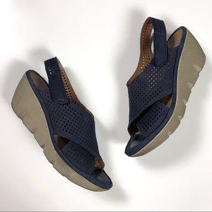 Clarks Artisan Clarene Award Wedge Sandals